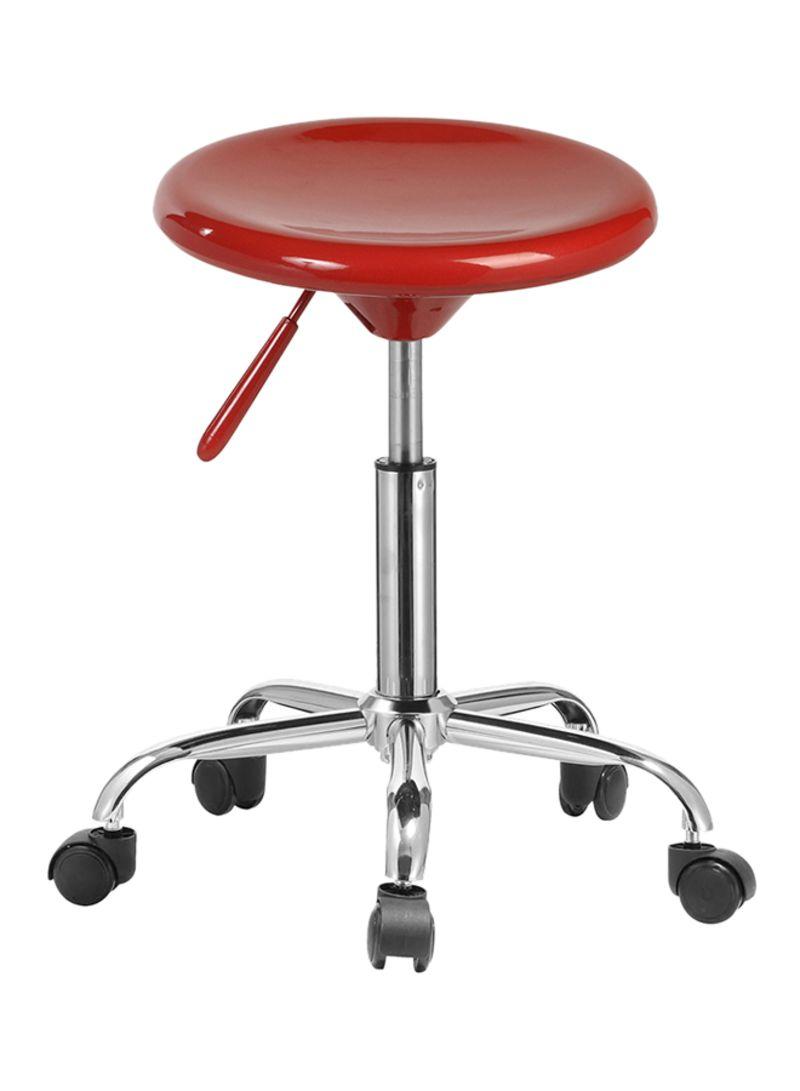 Swell Shop Chic Allure Adjustable Bar Stool With Wheels Red Creativecarmelina Interior Chair Design Creativecarmelinacom