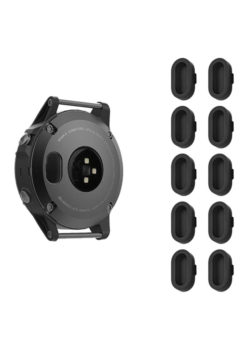 Shop Fintie 10 Piece Charger Port Protector For Garmin Fenix 5 Black