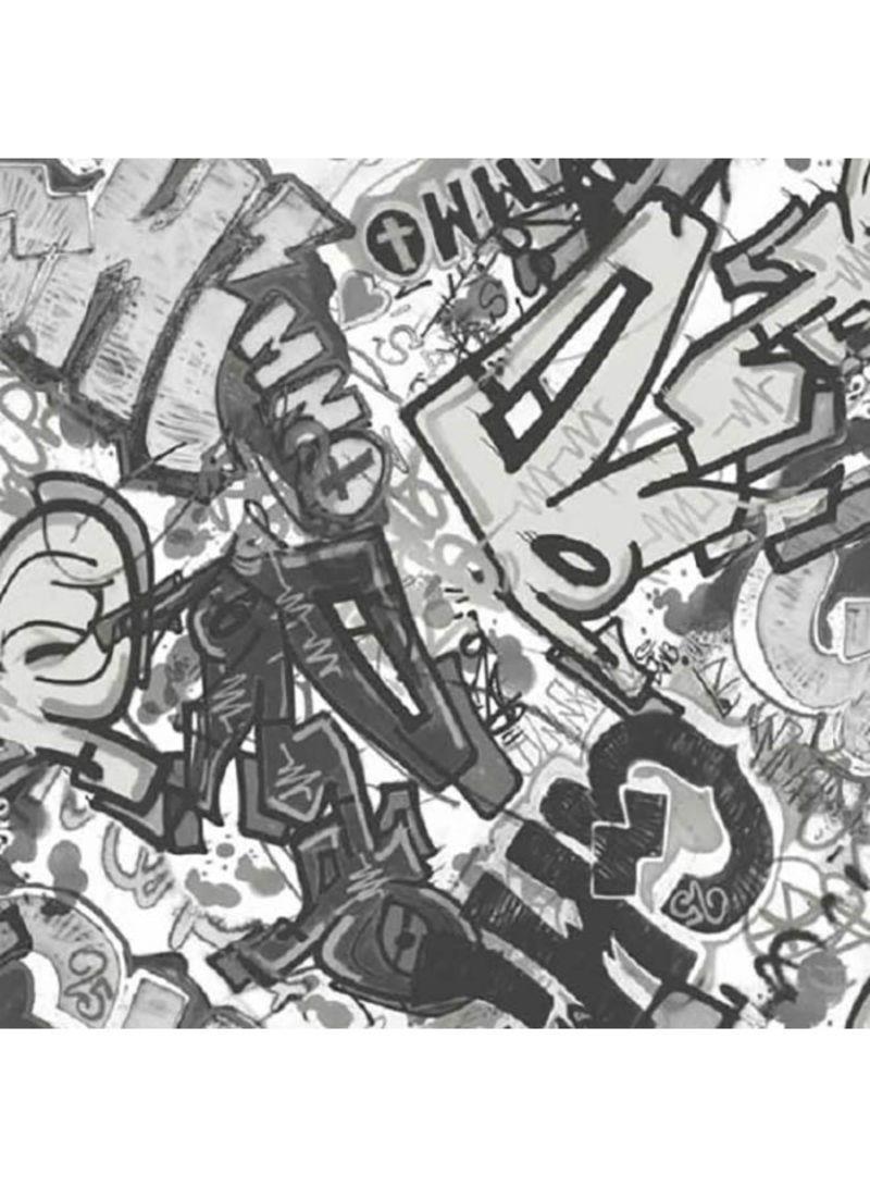 Whats Up Grai Printed Wallpaper Black Grey 10x0 53 Meter