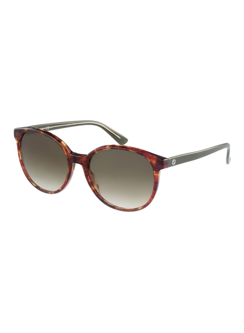 81b619763a7d Shop GUCCI Women's UV Protected Oval Sunglasses GG 3722 HLZDB online ...