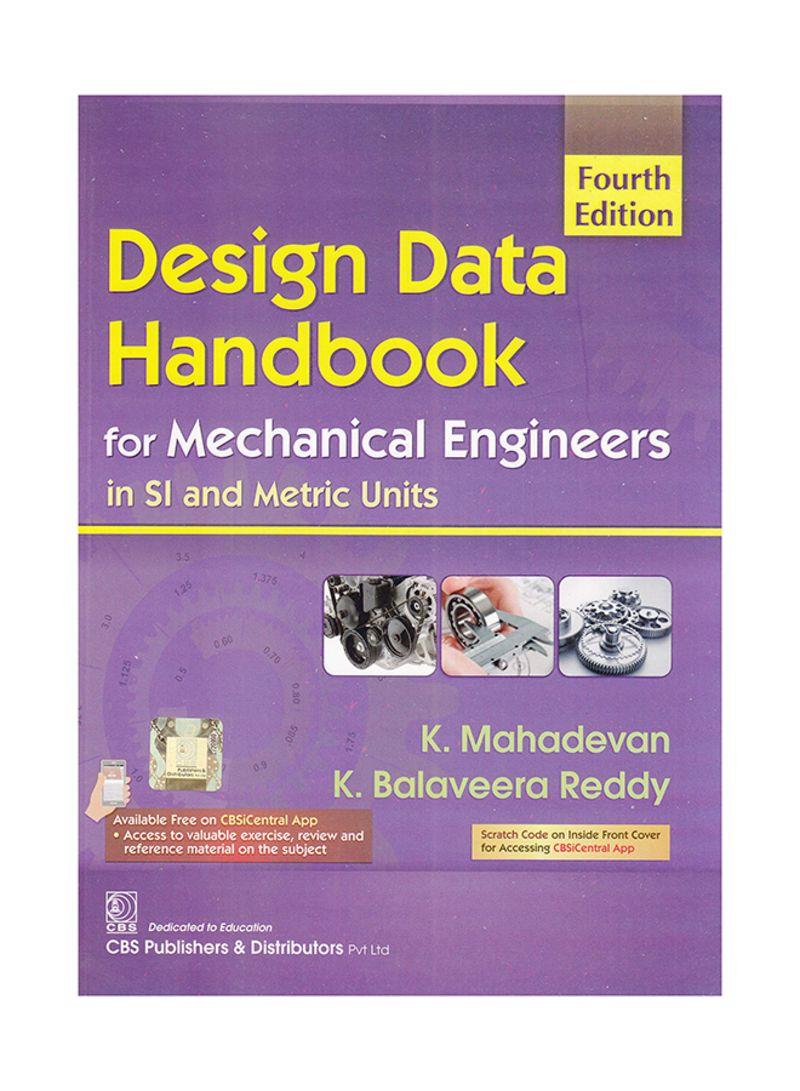 Design Data Hand Book By K Mahadevan