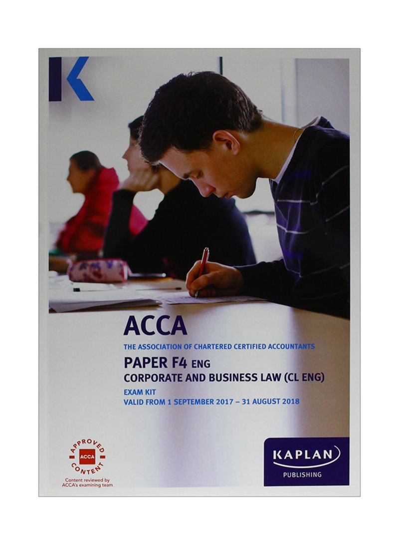Shop ACCA: Paper F4 Eng: Corporate And Business Law: Exam Kit Paperback  online in Dubai, Abu Dhabi and all UAE