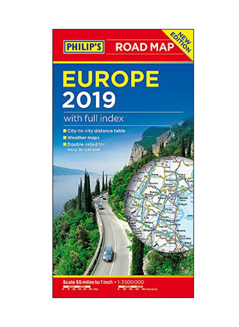 تسوق وPhilip\'s Road Map Europe 2019: With Full Index Paperback أونلاين في  الإمارات