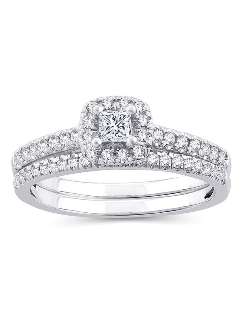 Shop Eternaldia 10 Karat White Gold 0 5 Ct Wt Princess Cut