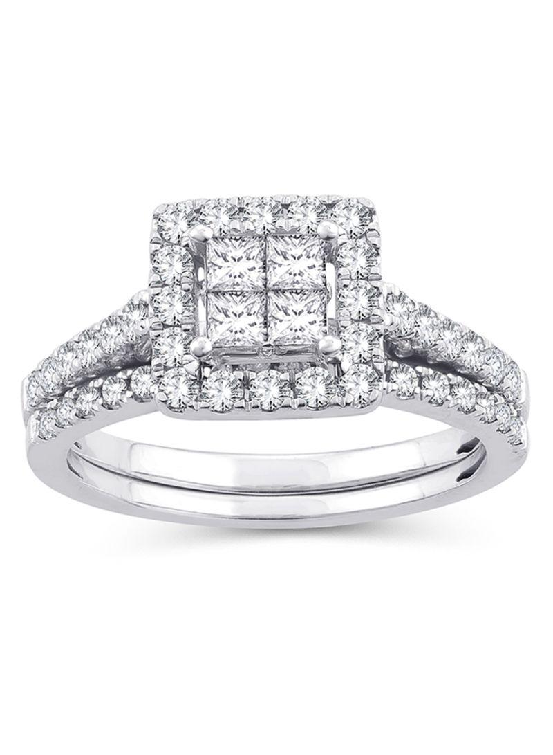 Shop Eternaldia 10 Karat White Gold 1 Ct Wt Diamond Princess Cut
