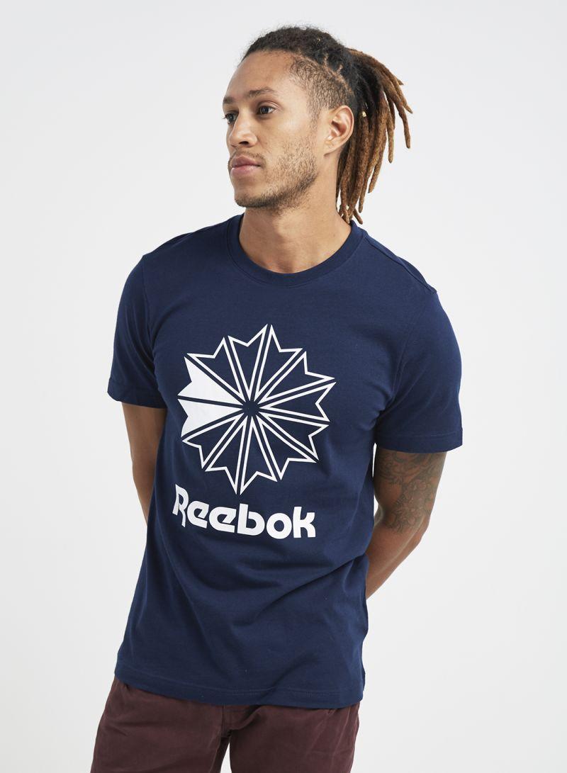 14809de75b288 Shop Reebok Classics Big Logo T-Shirt Collegiate Navy online in ...