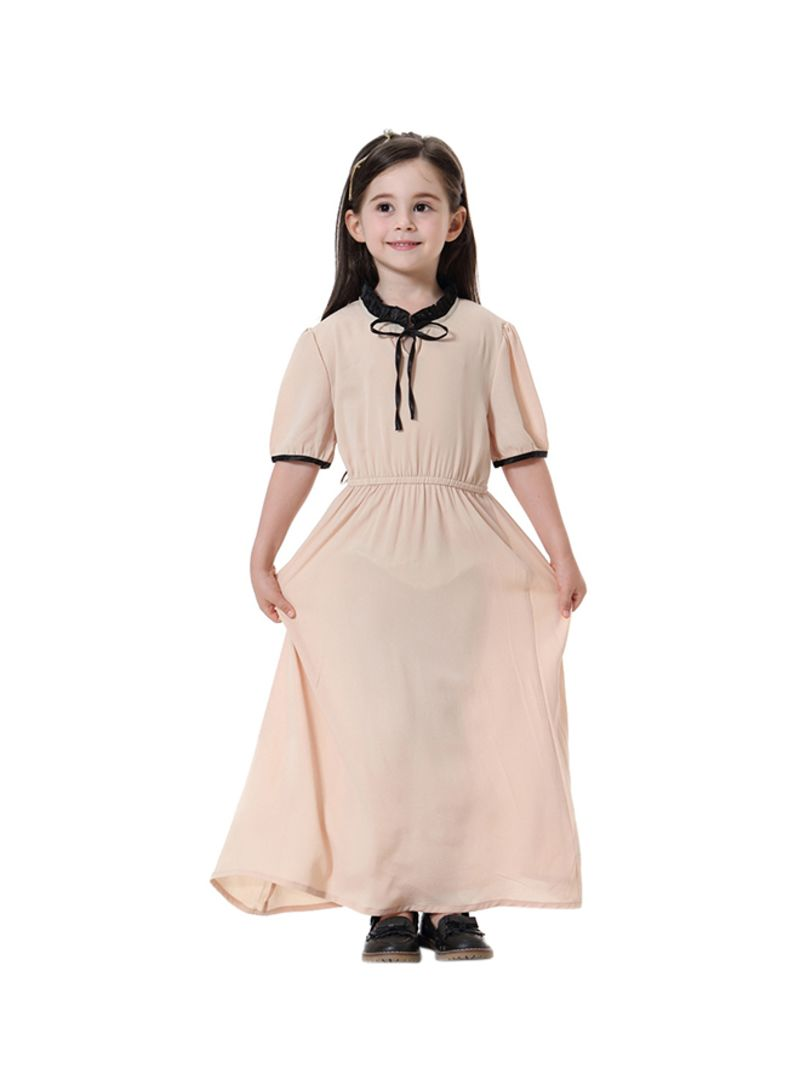 51c4b3440e27 Shop Sharpdo Short Sleeve Keyhole Maxi Dress Khaki online in Dubai ...