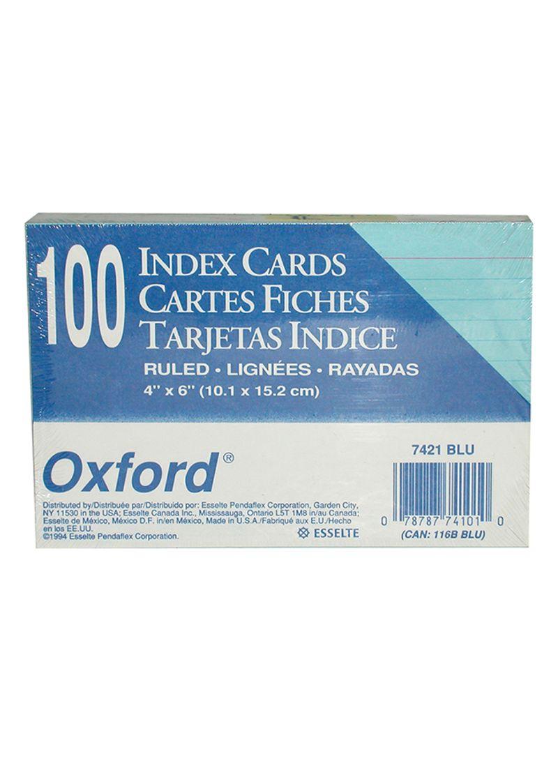 Shop Oxford 100-Piece Index Card Blue online in Dubai, Abu