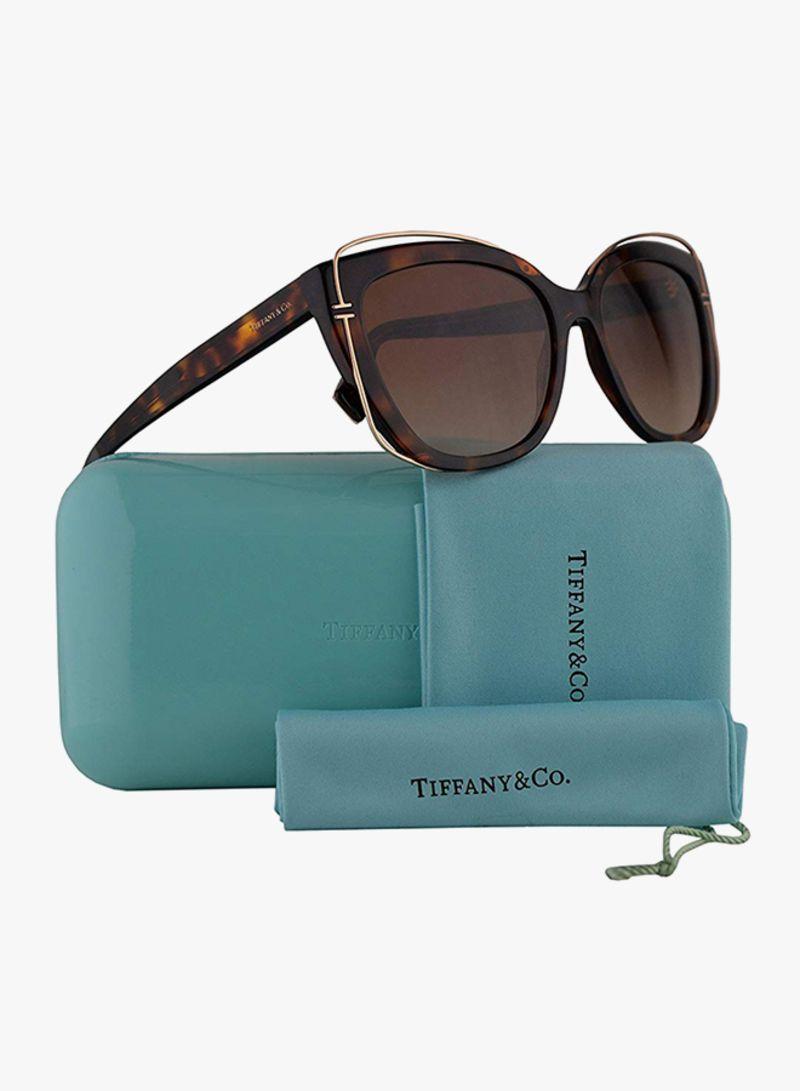 98b04678b3e6c Shop Tiffany Co Women s Cat Eye Sunglasses TF-4148-80023B-54 online ...