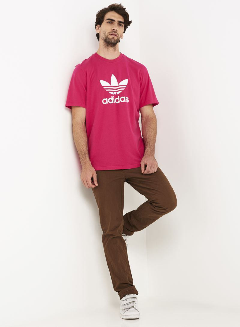 Adidas Originals Trefoil Men/'s T-Shirt Shock Pink//White dh5776
