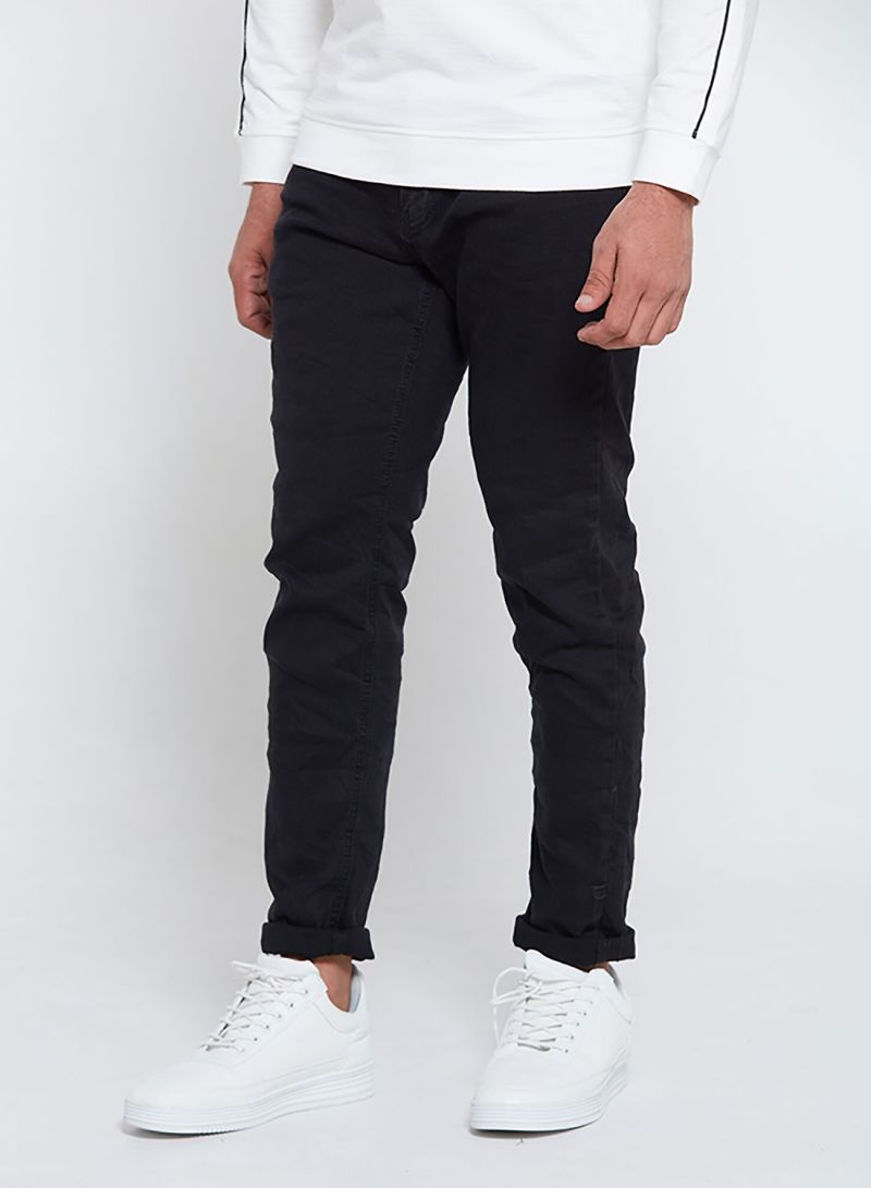 Shop PETRO Stretchable Crushed Skin Fit Jeans Black online in Dubai, Abu  Dhabi and all UAE