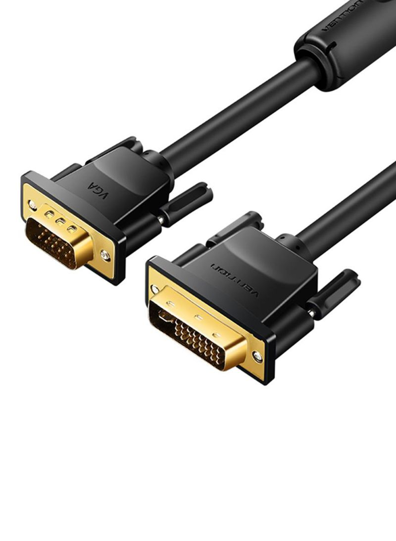 24+5 Pin 1.8M DVI-I Dual Link Male to VGA Male Video PC Adapter Monitor Cable