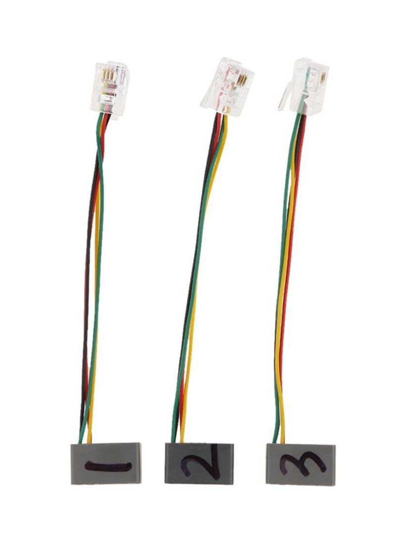 RJ9 4P4C Male To Female Connector Phone Adapter Extension Converter Cable Wire
