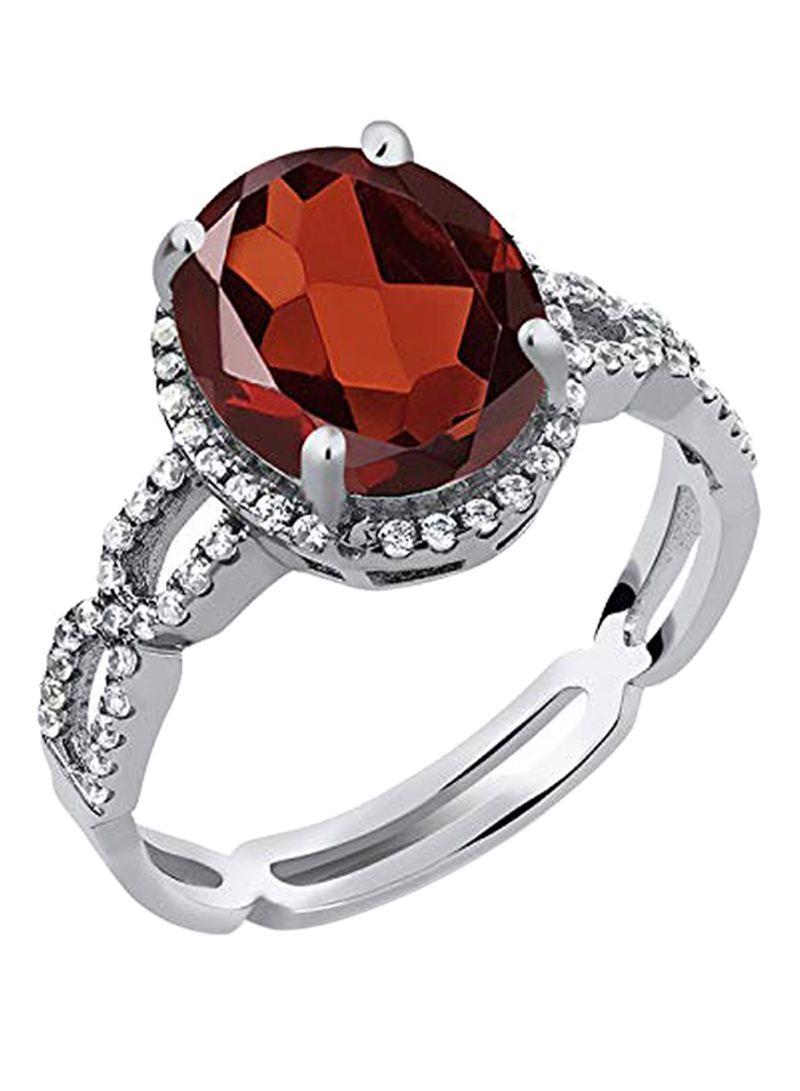 Shop GEM STONE KING 925 Sterling Silver 4 15 Carat Garnet Sapphire