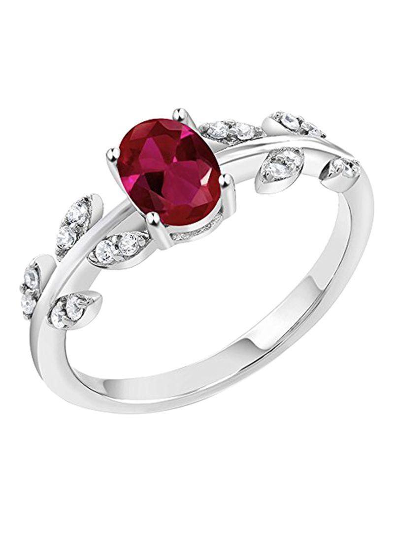 Shop GEM STONE KING 925 Sterling Silver 1 11 Carat Ruby Ring online