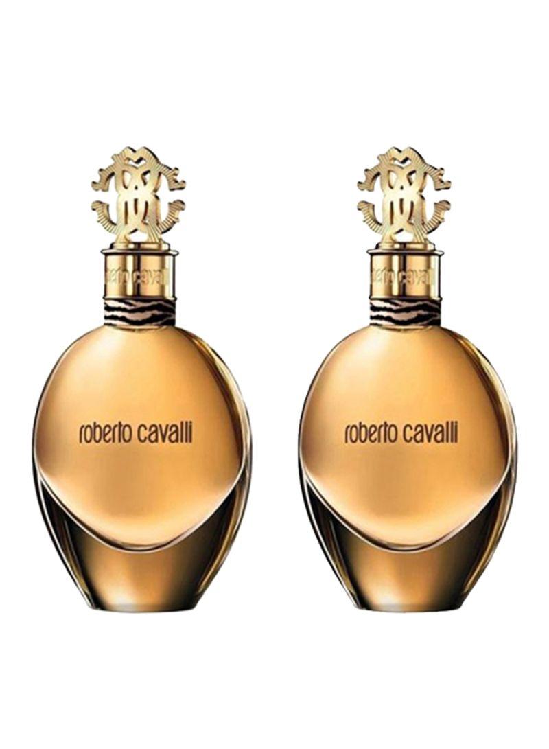 تسوق روبرتو كافالي ومجموعة هدايا ماء عطر روبرتو كافالي مكونة من قطعتين (2X50 ml) أونلاين في السعودية