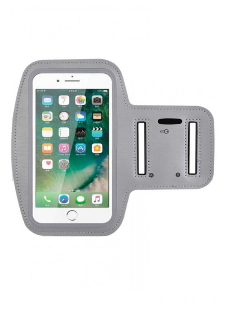 low priced 8cb64 207e9 Shop MARGOUN Sports Armband Case Cover For Apple iPhone 7/8 Plus/XS/XR/XS  Max Grey online in Dubai, Abu Dhabi and all UAE