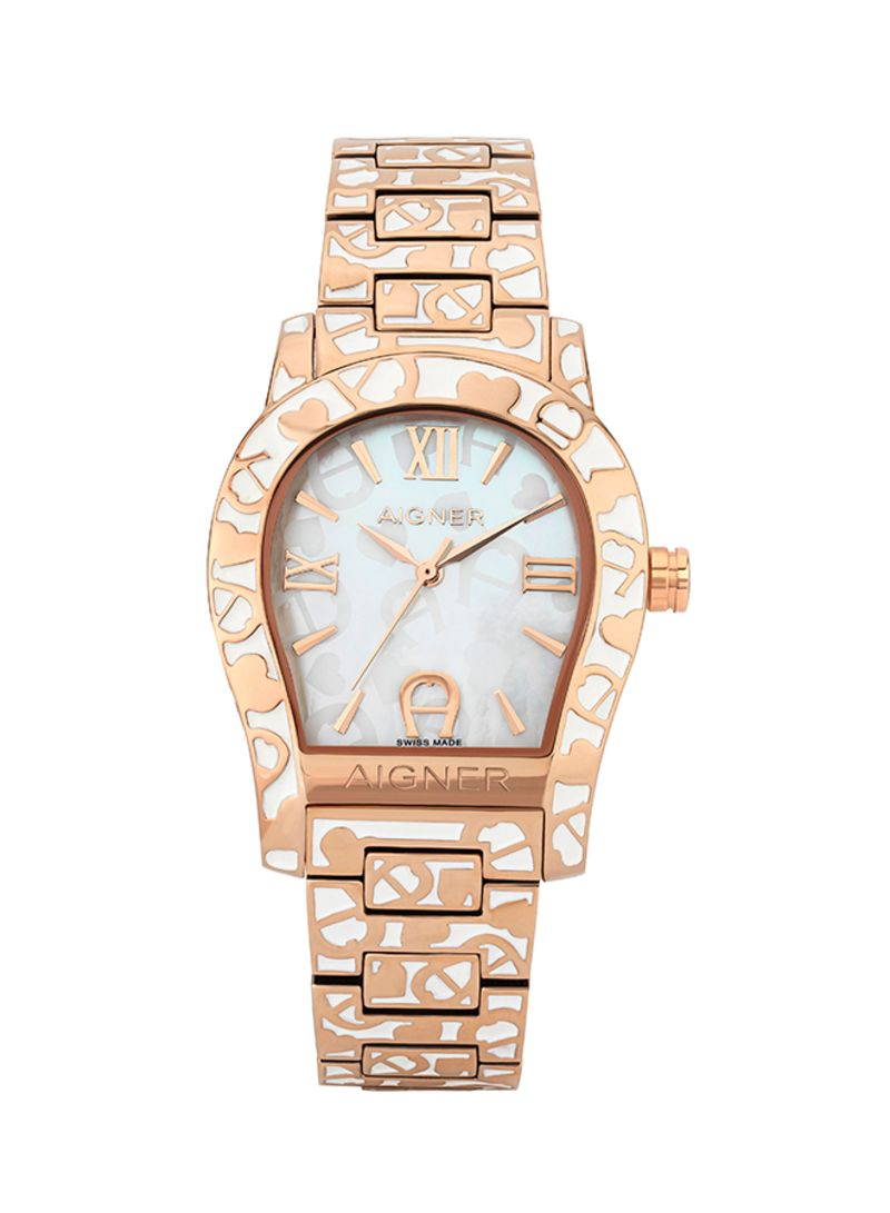 Shop AIGNER Women's Stainless Steel Analog Wrist Watch