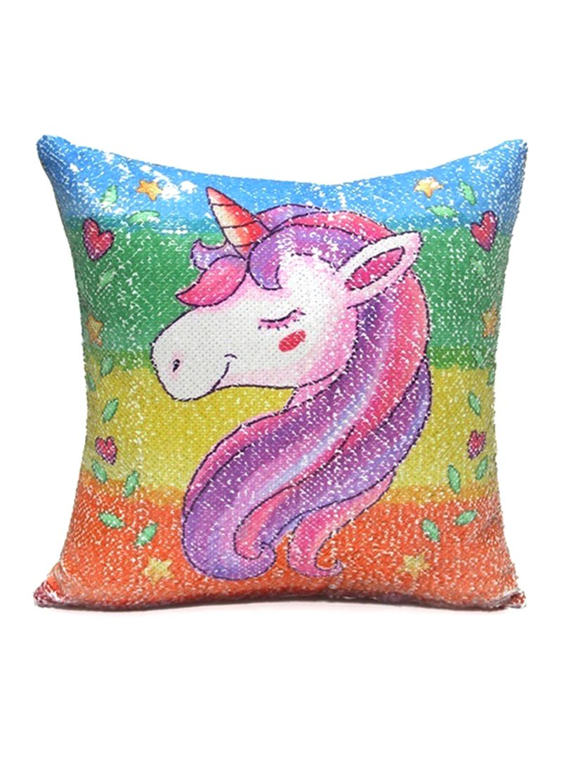 Awesome Shop Generic Reversible Sequin Cartoon Unicorn Printed Sofa Caraccident5 Cool Chair Designs And Ideas Caraccident5Info