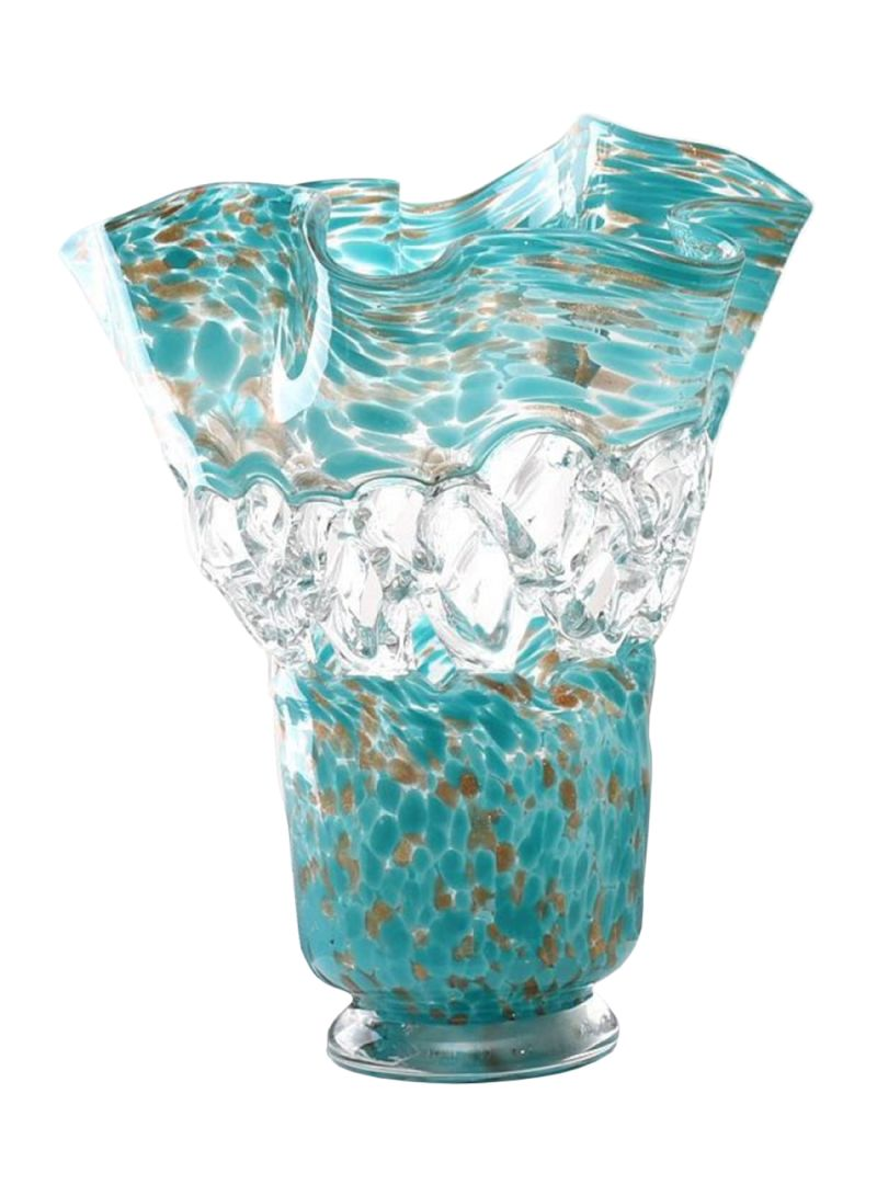Sea Flower Vase Turquoise/Clear 30 x 25 centimeter  sc 1 th 262 & Shop Tamona Sea Flower Vase Turquoise/Clear 30 x 25 centimeter ...