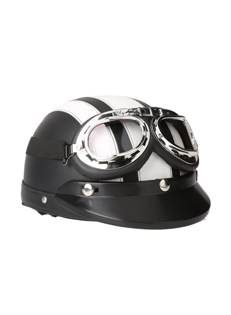 1ce0e840 Shop Generic Motorcycle Scooter Open Face Half Leather Helmet with ...
