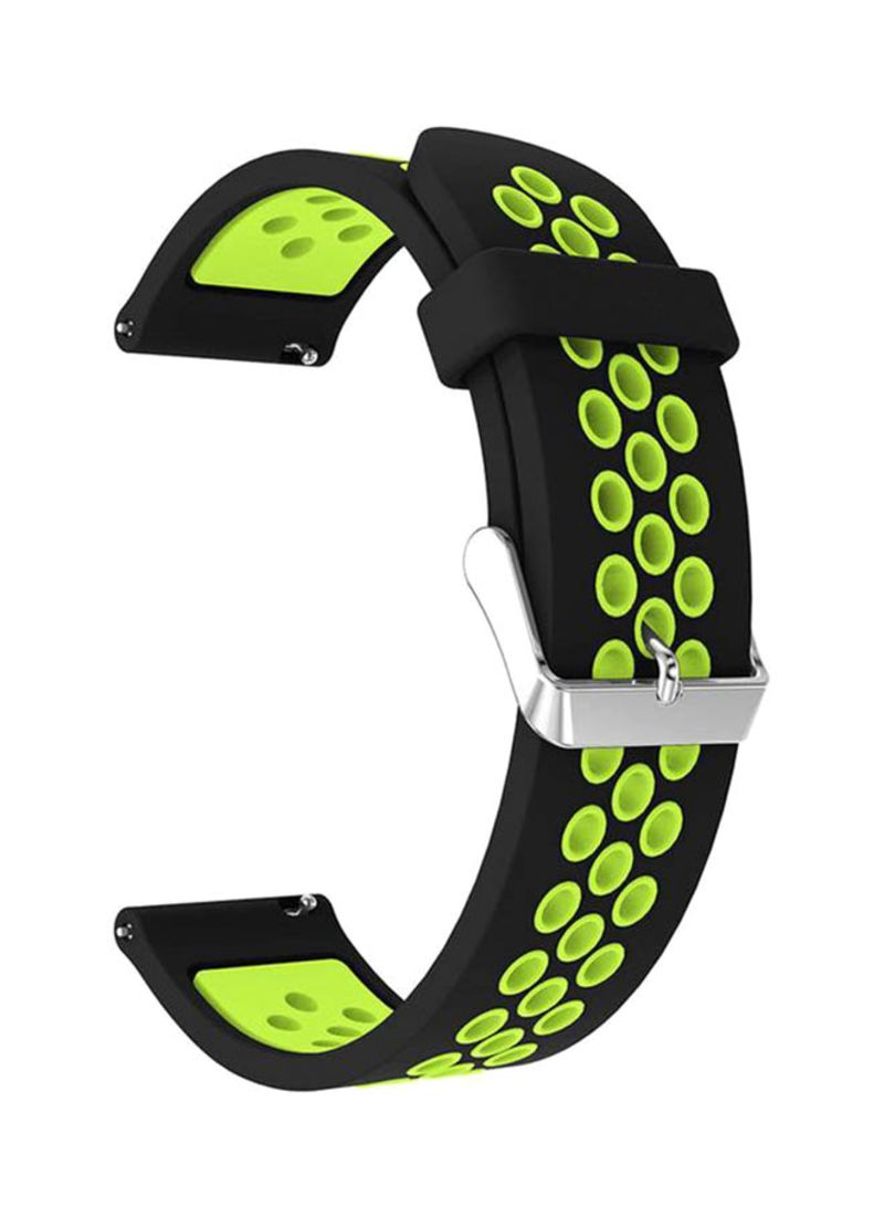 Shop LNKOO Soft Silicone Sport Replacement Band For Samsung Galaxy Watch  SM-R810/SM-R815/Gear Sport/Suunto 3 Fitness Smart Watch Black/Green online  in