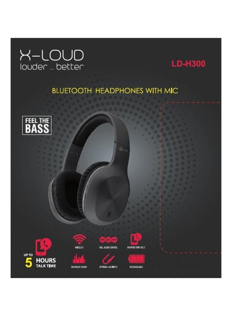 Shop X Loud H300 Wireless Bluetooth Headset With Mic Black Online In Egypt