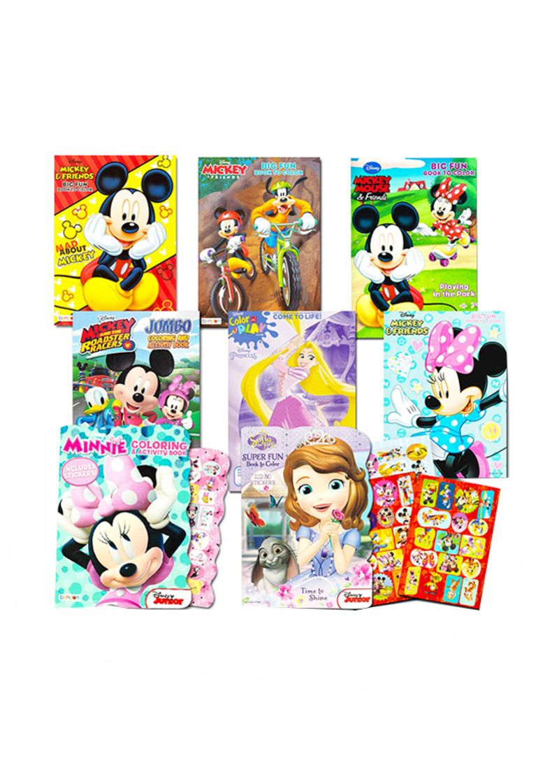 Shop DISNEY 8-Piece Disney Coloring Books And Sticker For ...