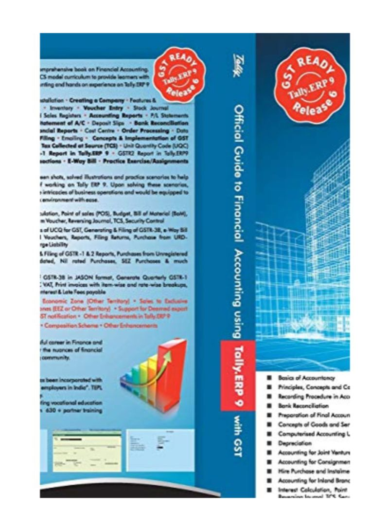 Shop Official Guide To Financial Accounting Using Tally  Erp 9 With Gst  Paperback 4th Edition online in Dubai, Abu Dhabi and all UAE