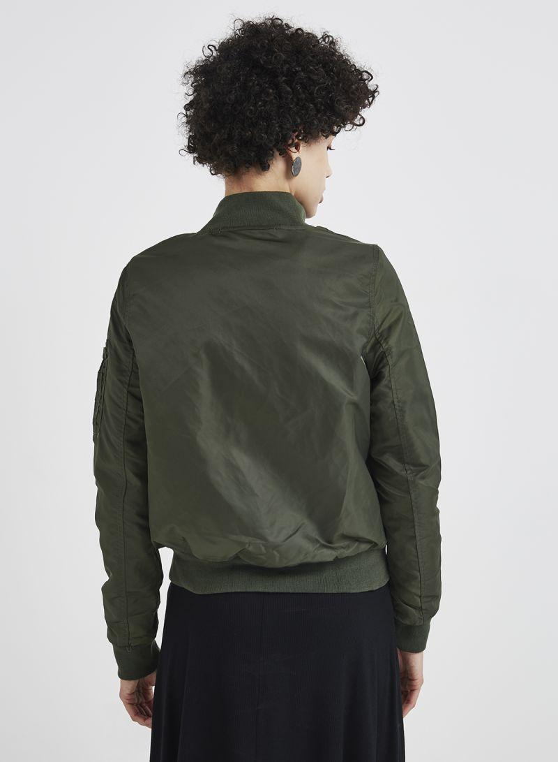 c05bcc344 Shop Brave Soul Nylon Twill Bomber Jacket With Contrast Lining Khaki online  in Riyadh, Jeddah and all KSA