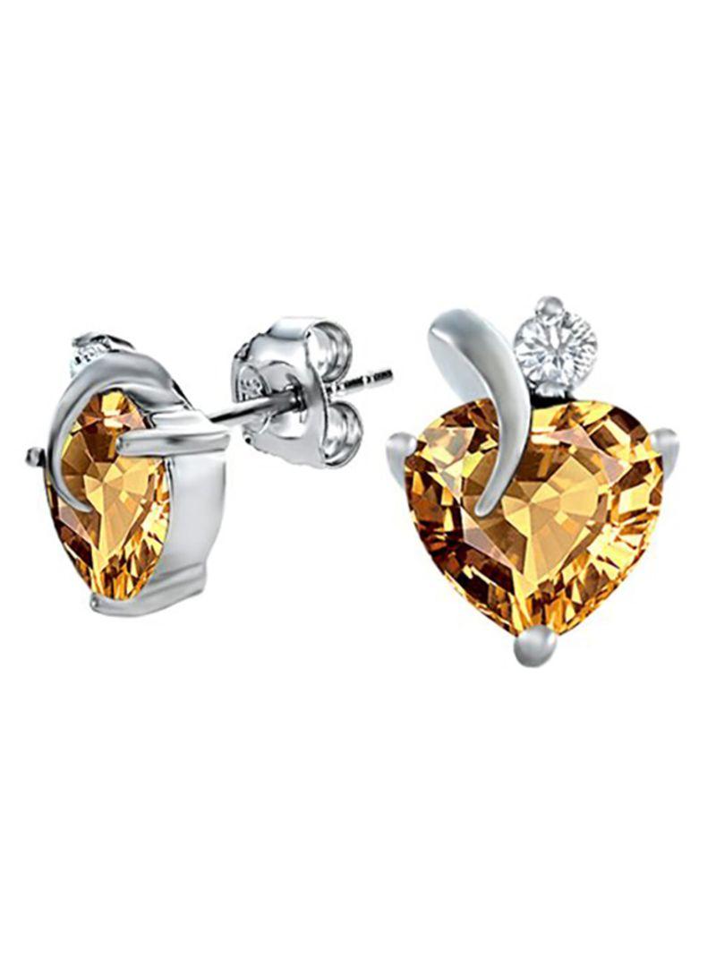 DiamondJewelryNY Double Loop Bangle Bracelet with a St Mark The Evangelist Charm.