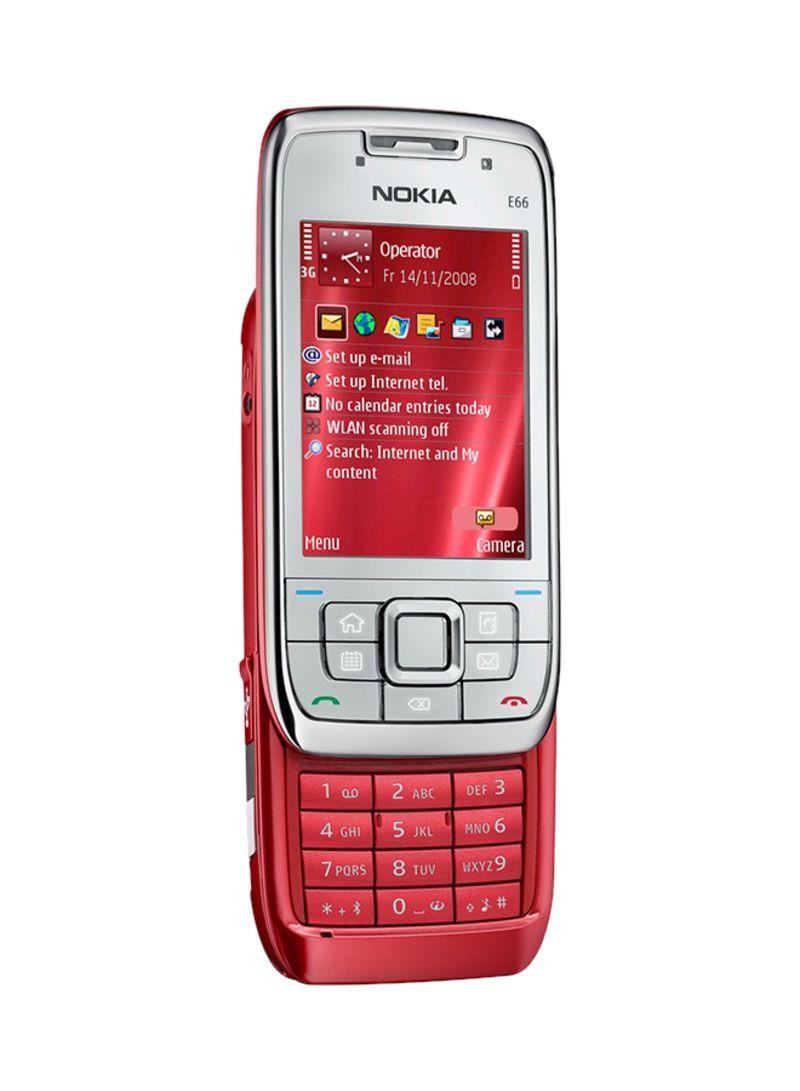تسوق نوكيا وهاتف نوكيا E66 بذاكرة سعة 110 ميجابايت بلون أحمر يدعم