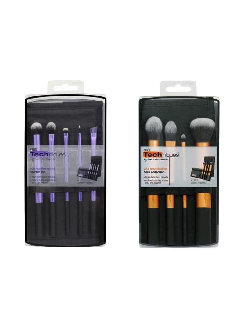 Shop REAL TECHNIQUES 9-Piece Core Collection And Starter Makeup Brush Set  Black/Purple/Gold online in Dubai, Abu Dhabi and all UAE