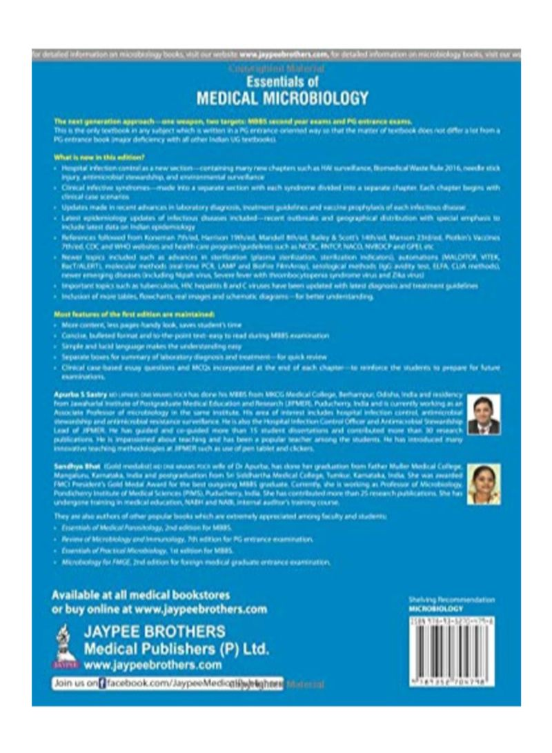 Shop Essentials Of Medical Microbiology Paperback 2nd Edition online in  Dubai, Abu Dhabi and all UAE