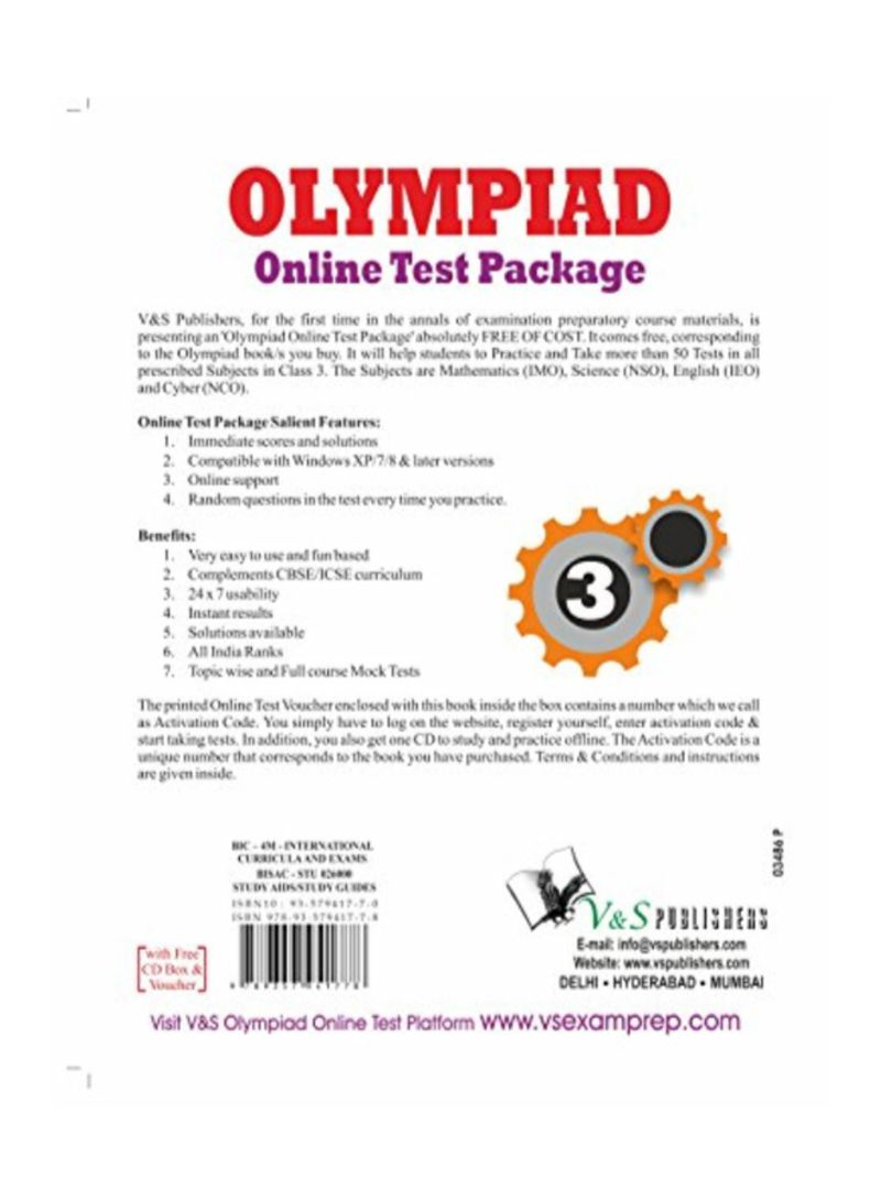 Shop Olympiad Online Test Package Class 3 Paperback online in Egypt
