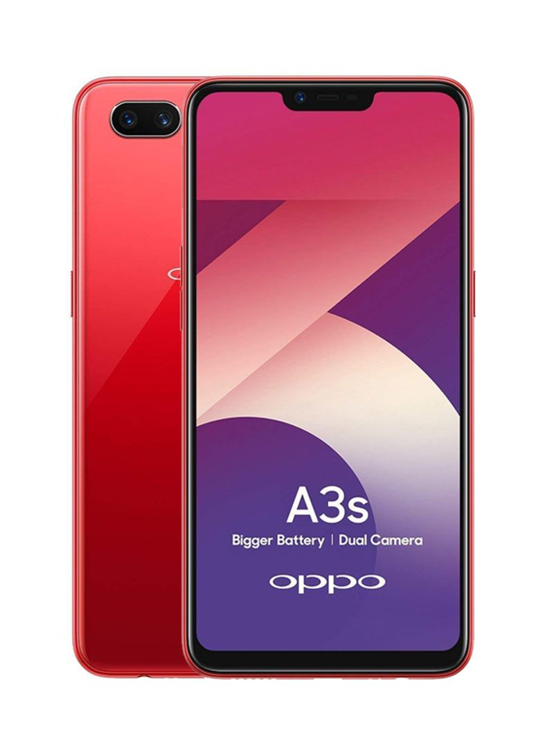 Shop OPPO A3s Dual SIM Red 32GB 4G LTE online in Dubai, Abu Dhabi and all  UAE