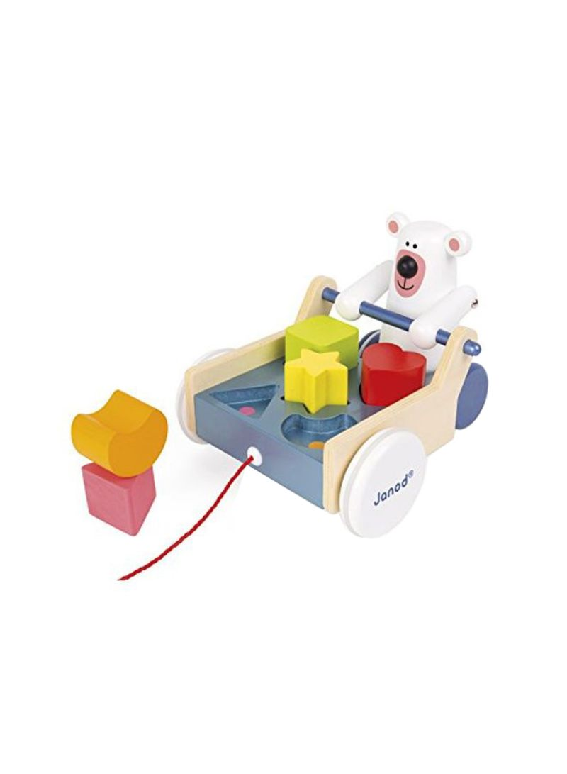 shop janod zigolos pull along shape box bear toy online in