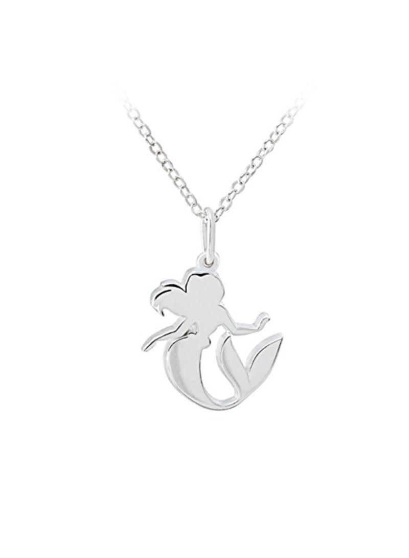 8bd912f32 Shop DISNEY 925 Sterling Silver Mermaid Ariel Pendant Necklace ...