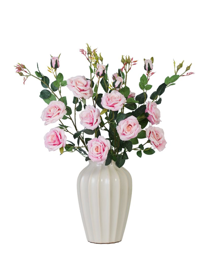 imageGalleryImg  sc 1 st  Noon.com & Shop LANNYHOME Decorative Artificial Flower With Vase Pink 18x18x100 ...