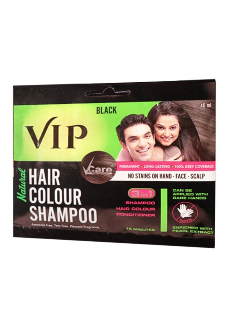 Shop VCare VIP Hair Color Shampoo Black 40 ml online in Dubai, Abu Dhabi  and all UAE
