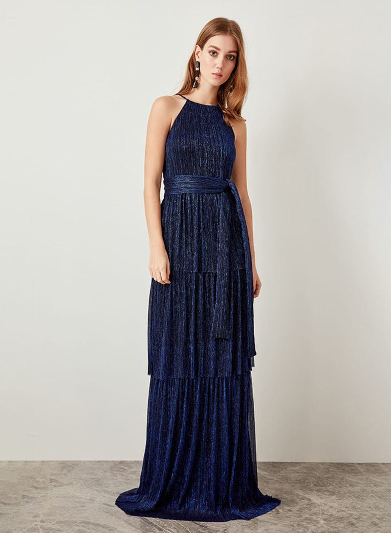 00e2e6708352c Shop Trendyol Layered Shimmer Gown Navy online in Dubai, Abu Dhabi and all  UAE