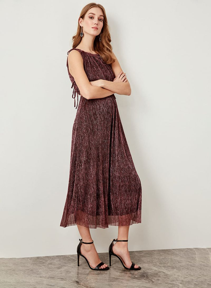 4f2c81d665b8e Shop Trendyol Metallic Midi Dress Plum online in Dubai, Abu Dhabi and all  UAE
