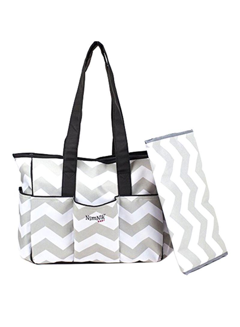 3c836a4ce Shop NimNik Baby Premium Diaper Tote Bag Chevron With Changing Mat ...