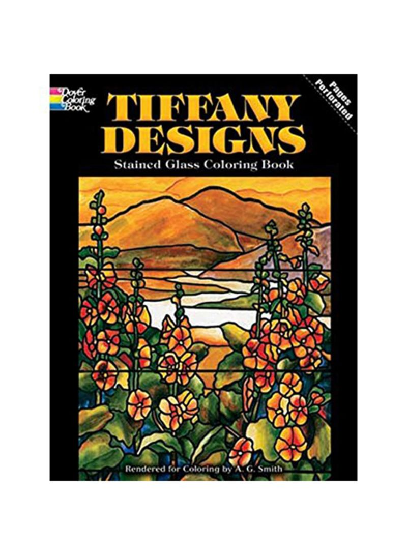 Shop Dover Tiffany Designs Stained Glass Coloring Book 8.25 x 11 ...