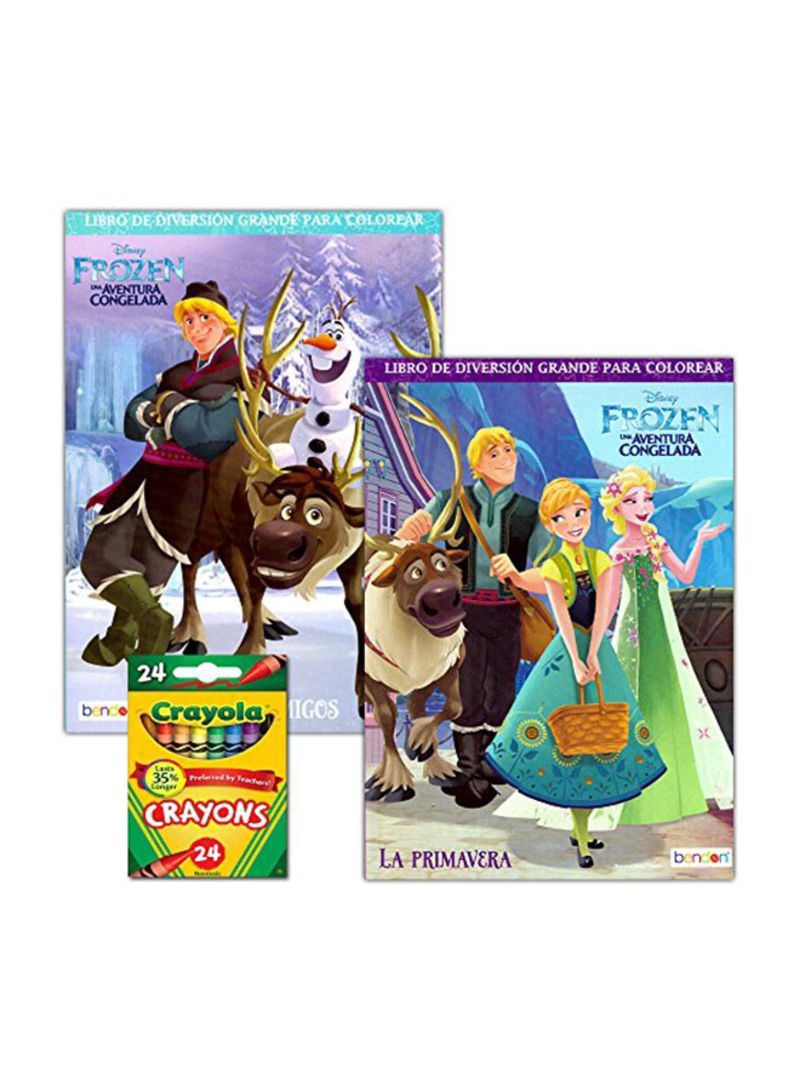 Shop FROZEN Disney Frozen Coloring Book Set With Crayons online in Dubai,  Abu Dhabi and all UAE