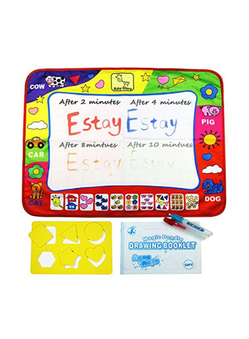 تسوق Estay وبساط تلوين مائي أكوا دودل ذو 4 ألوان مع قلمي رسم