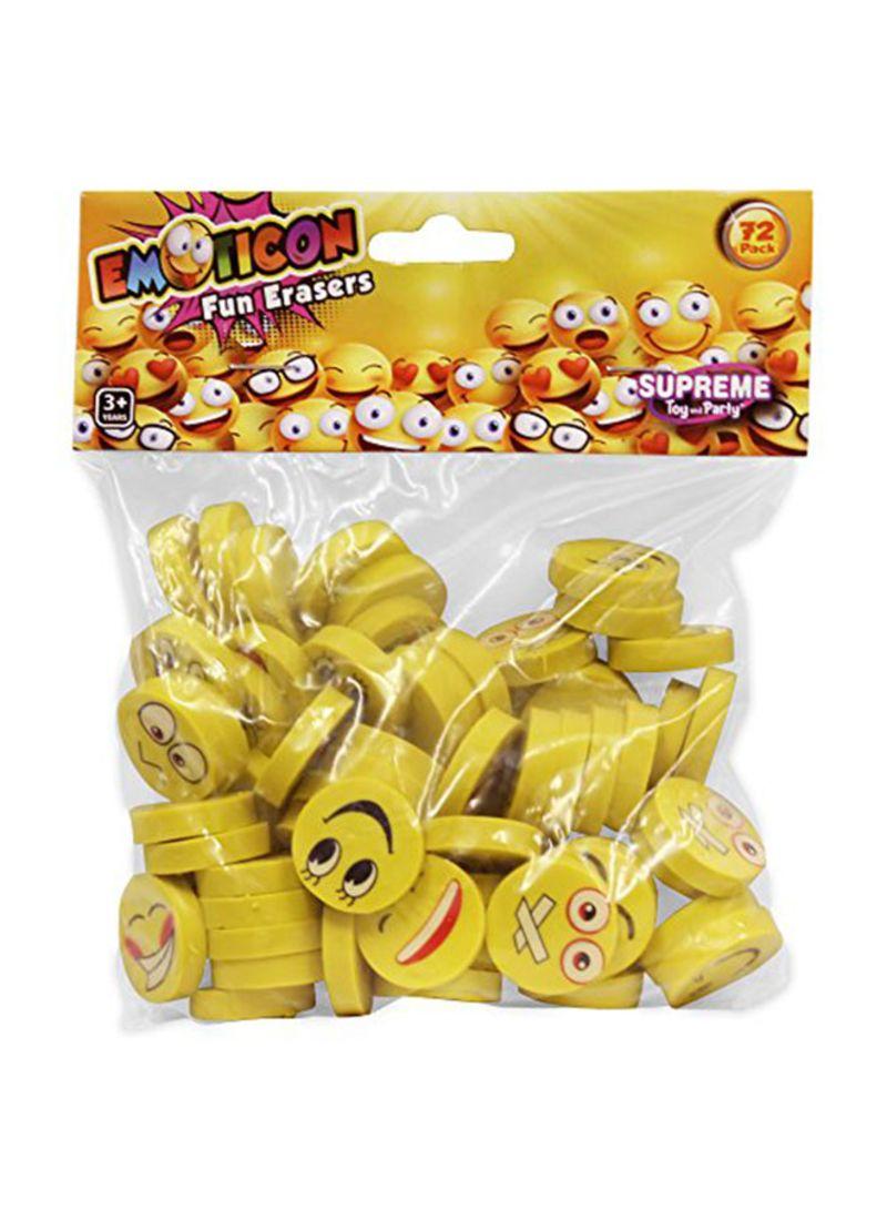 Shop Windy City Novelties Emoji Pencil Erasers Yellow online in Dubai, Abu  Dhabi and all UAE