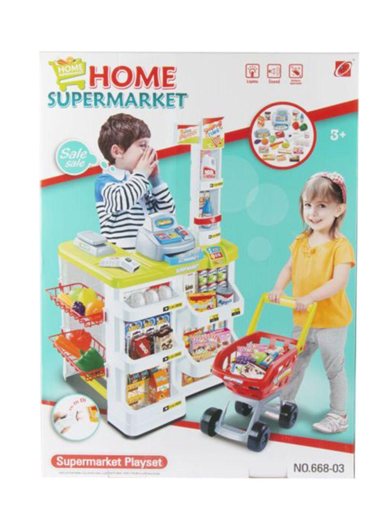 Shop Generic Kids Supermarket Shopping Trolley online in
