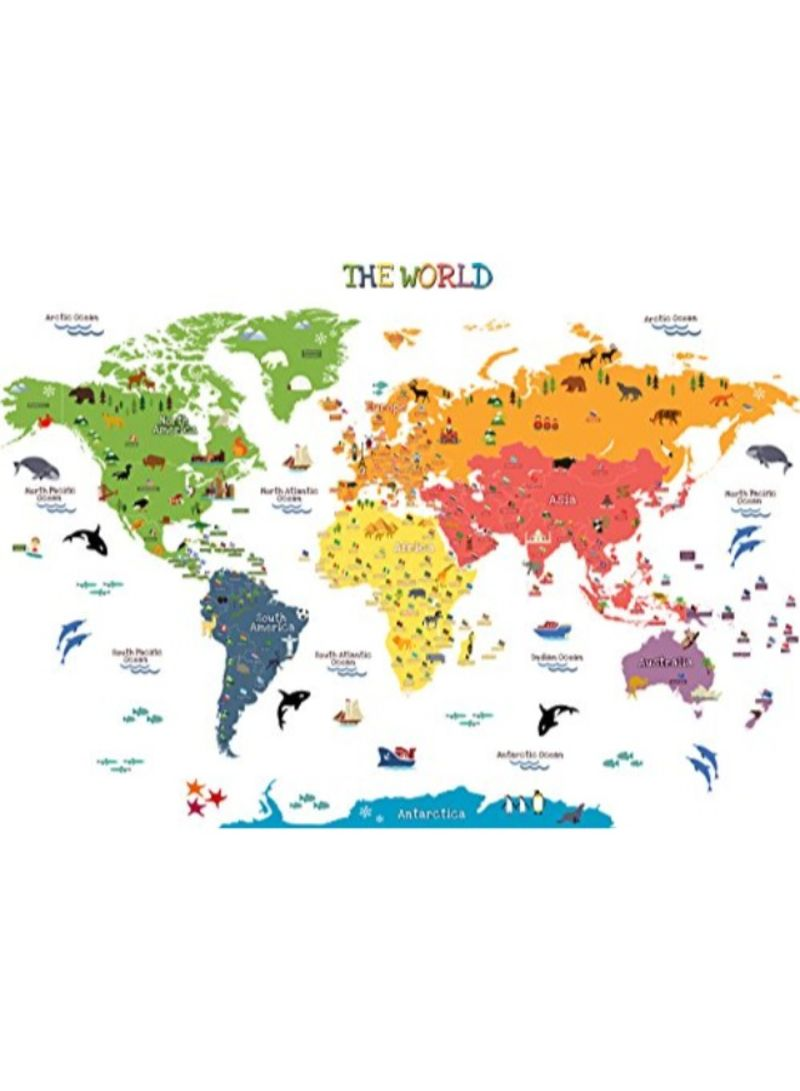 Shop HomeEvolution Kids Educational Removable World Map online in Dubai,  Abu Dhabi and all UAE