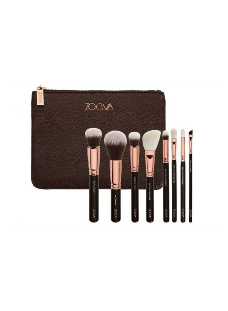 ac84f67c1a7 otherOffersImg_v1552734575/N22360417A_1. Zoeva. 8-Piece Fashion Luxury Wool Makeup  Brush Set Black/Rose Gold/White